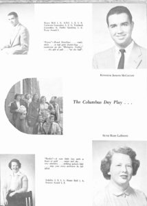 SMHS Waltham Yearbook 1955 Pg 35