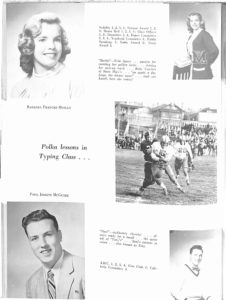 SMHS Waltham Yearbook 1955 Pg 38